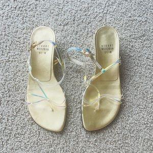 Vintage Stuart Weitzman Iridescent Sandals 90s